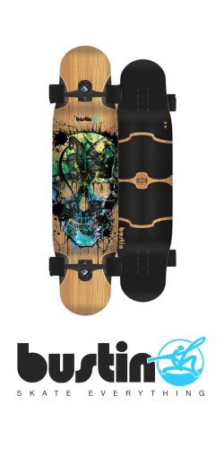 Bustin Shrike - Bamboo X longboard komplektas