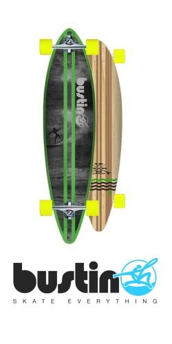 Bustin Surf Pintail 38 longboard komplektas